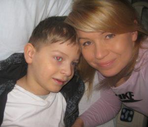 To my – mama Kasia i bohaterski Oluś