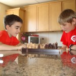Dave and Konrad playing chess