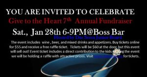 <!--:en-->Gift to the Heart 7th Annual Fundraiser<!--:--> @ Boss Bar | Chicago | Illinois | United States